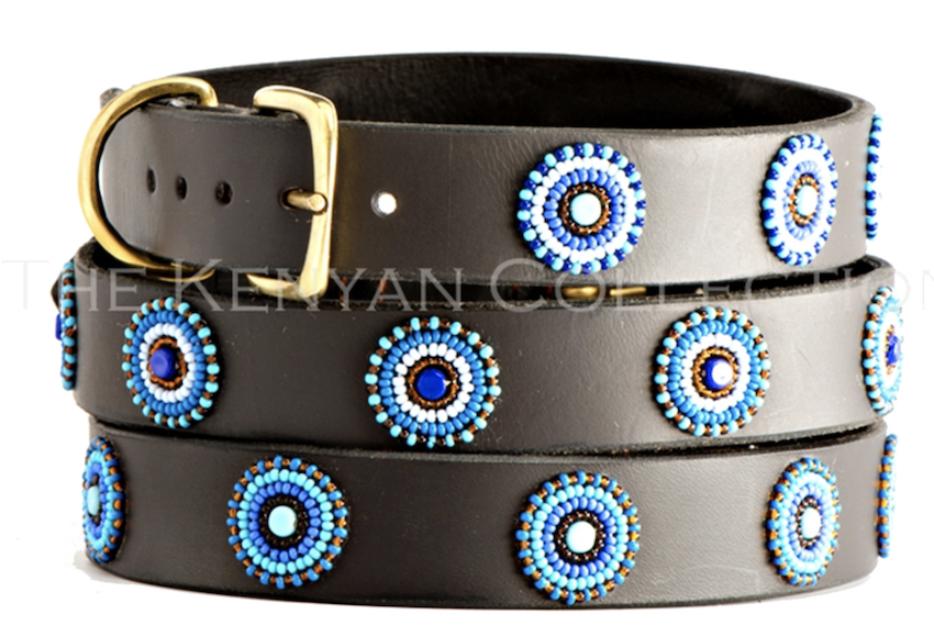 BLUE CIRCLE Massai Hundehalsband